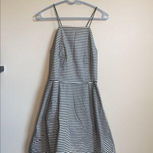 Kate Spade Saturday black white stripe mini dress